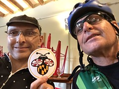 Me and Rod at Meadery (Mr.TinDC) Tags: people friends cyclists rod me ted mrtindc maryland md