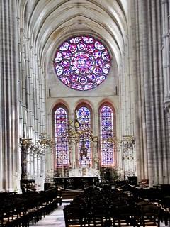 Altar Mayor de la gótica Catedral de Laon. Francia.