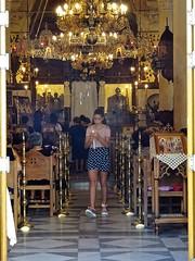 Welcome to morning service on peaceful Sunday. (Ia Löfquist) Tags: crete kreta sunday söndag ierapetra ortodox orthodox church kyrka gudstjänst högmässa greek grekisk fotosondag fotosöndag fs180916