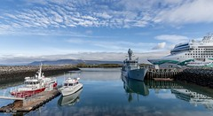 Four of a kind (einisson) Tags: boats sea dock clouds viðey reykjavík iceland outdoor blue einisson canon70d