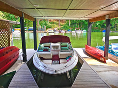 """""""Respect Must Be Earned"""" (Halvorsong) Tags: lake lakeside waterside art color green fun wow cool summer summertime halvorsong usa america americana photography photosafari composition contrast canoe red toys explore discover lifestyle life nature recreation sport boat water"""