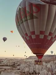 Ballon ride as the sun rose - Cappadocia, Turkey (Monceau) Tags: balloon balloons balloonride cappadocia turkey sky colorful sunrise morning