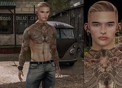 { Kim Woo } ({ Max Hades }) Tags: head hair base skin body tattoo bracelet jeans sneakers ears eyes