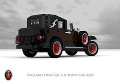 Packard Twin-Six 3-35 Town Car (1922) (lego911) Tags: packard 1922 1920s 335 twin six twinsix v12 luxury town car transformable usa american classic vintage oldtimer auto moc model miniland lego lego911 ldd render cad povray