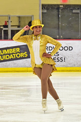 Golden Miss...#3 (R.A. Killmer) Tags: skate smile skater show charity 2018 lemieux center costume golden gold glitter glitz ice figure skating performer talented beauty