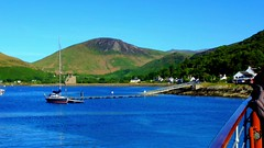 Scotland West Highlands Argyll the paddle steamer Waverley leaving Loch Ranza island of Arran and sailing along the Arran coast on the evening of 24 June 2018 video by Anne MacKay (Anne MacKay images of interest & wonder) Tags: scotland west highlands argyll clyde paddle steamer waverley loch ranza island arran sea mountains sailing coast evening landscape 24 june 2018 video by anne mackay