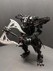 Berserker (ZephyrChaos) Tags: lego mech mecha moc oni black berserker demon creature axe