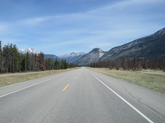 Northbound on straight stretch in our family RV north of Jasper (jimbob_malone) Tags: 2018 highway16 alberta