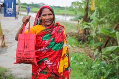 Qurbani meat distribution in Bangladesh in 2018.