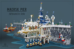 """Full Steam"" Maersk Pier (Markus ""madstopper78"" Ronge) Tags: legosteampunk steampunk lego fullsteamlego legopotsdam legophotography toyphotography toyphoto moc afol legofan netbrix"