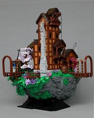 Ship's Bane (-LittleJohn) Tags: innovalug isles aura pirate ship island shipwreck floating rock angled snot technique house tower tree landscape blacksmith balcony dock