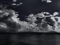 Sevan | Armenia (maryduniants) Tags: monochrome lakesevan lake dark clouds armenia sevan