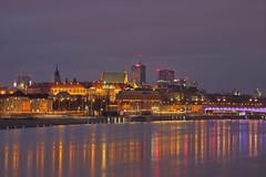Fredda notte / Cold night (Royal Castle, Warsaw, Poland) (AndreaPucci) Tags: warsaw poland night andreapucci royal castle staremiasto oldtown vistula river winter