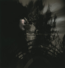 Dark Star (micalngelo) Tags: analog filmphoto pinhole anamorphicpinhole dianacamera acros100film sandwichnegative plasticcamera toycamera toycameraphotography lenslesscamera mediumformatphotography darkstar vermeerpinholecameras