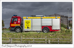 Humberside Fire Brigade (Paul Simpson Photography) Tags: scunthorpe steelworks a18 sonya77 paulsimpsonphotography imagesof imageof photoof photosof 999 emergency fireengine september 2018 rescue vehicle humberside northlincolnshire weather humbersidefirebrigade humbersidefireandrescueservice hfrs