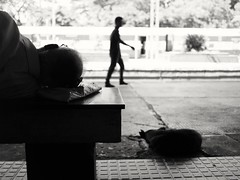 Sometimes time also stop here (bsilentsg) Tags: street streetphotography india kerala railway station olympus lumix20mm relax microfourthird camera