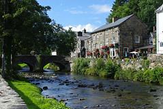 Beddgelert, Snowdonia, N Wales (Blue Sky Pix) Tags: beddgelert snowdonia nationalpark northwales holidays pentax stonebridge prettyvillage sunny flowers cymru ilovewales rivercolwyn