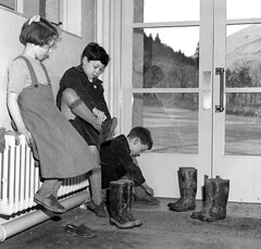 How to cause problems (theirhistory) Tags: boy children child kid girl school group class pupils students dress blazer jacket shorts socks shoes wellies rubberboots glass
