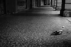 Solitude (davidmilletti) Tags: 80d canon arcades bottle solitude bologna street streetphotography biancoenero bw bnw monochrome blackwhite