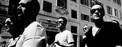 Boys of summer. (Baz 120) Tags: candid candidportrait city contrast street streetphotography streetportrait sony a7 rome roma europe women noiretblanc mono monochrome monotone bw blackandwhite urban portrait people italy italia grittystreetphotography faces decisivemoment