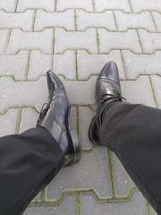 Coffee break with captoes 2 (Adam11051983) Tags: black captoes derby dress feet foot footwear formal lace leather mens shoe shoes