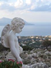 Greece (mademoisellelapiquante) Tags: greece europe crete drapanos graveyard graves cemetery angel statue sculpture