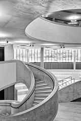lower floor (khrawlings) Tags: blavatnik schoolofgovernment oxford staircase curve circle monochrome bw blackandwhite architecture building concrete ceiling window