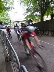 Rounding the first corner (Steelywwfc) Tags: ovo energy tour series durham robert scott wiggins james oram one pro cycling julio amores vitus david lines wheelbase castelli