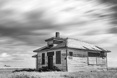 Bechard School (TigerPal) Tags: saskatchewan sask prairie plains abandoned forgotten dustyroad gravelroad ruin ruraldecay rural backroads exploration bechard school longexposure ndfilter neutraldensity monochrome