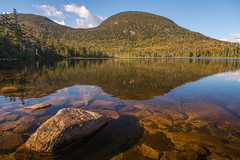 evening at lonesome lake (Christian Collins) Tags: lincolnnh whitemountains canoneos5dmarkiv ef24105mmf4lisusm cannonmountain newhampshire nh mountainlake lake rocks roca rocas piedra lago sunset evening tardes reflection franconiagap park