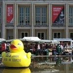 Giant yellow duck, market, opera house - Leipzig thumbnail