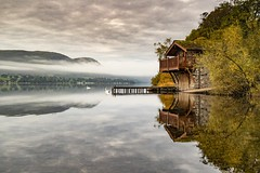 EARLY MORNING MIST OVER ULLSWATER (Tony Armstrong-Sly) Tags: boathouse ullswater lakedistrict lake water reflection reflections mist dawn nature
