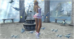 Nuni (Moni Carissa) Tags: 7deadlyskins bloom group gift fable 3 evilbunny once upon a time sass dress fantasy heels socks well made poses bento just girl collection luanes magical world truth hair fenella