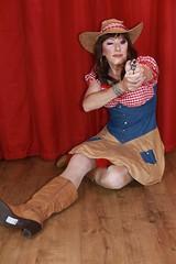 Cow girl fancy dress (Paula Chester) Tags: tg tv ts trannie tanny transvestite tgirl tgurl cd cowgirl tranniefun crossdressing crossdresser ladyboy