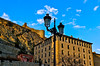 An Ornate Street Lamp, some Battlements and a Block of Flats... (MickyFlick) Tags: albarracin teruel aragon spain europe streetlamp ornate battlements blockofflats village monumentonacional historical hilly mickyflick