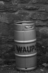 Waupoos keg (S. J. Coates Images) Tags: princeedwardcounty fall autumn blackandwhite building