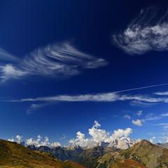 Sky pass dolomites (Robyn Hooz) Tags: giau veneto dolomites cielo sky nuvole clouds blue ice marmolada sigh polarizer polarizzatore sogno dolomiti