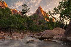 Watchman III (sberkley123) Tags: longexposure utah nikon zionnationalpark river virgin zion colors sunset usa d850 1424mm watchman