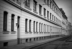 Menckestraße (SpitMcGee) Tags: architektur gohlis menckestr leipzig sachsen germany hmbt blackwhite schwarzweis bokeh spitmcgee