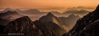 Mountain Ranges at Sunrise