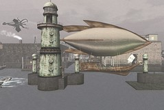 Mieville Twain 1 (Inner Space Explorer) Tags: steampunk airship lighthouse sl secondlife