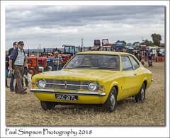 1973 Ford Cortina L (Paul Simpson Photography) Tags: fordcortina ford 1970s carsofthe70s sonya77 yellowcar imagesof imageof photoof photosof car transport motor british classiccar oldcar festivaloftheplough 2018 september farmingshow rural carshow lincolnshire paulsimpsonphotography