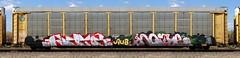 ??/Noise (quiet-silence) Tags: graffiti graff freight fr8 train railroad railcar art noise aub dfs autorack bnsf ttgx986933