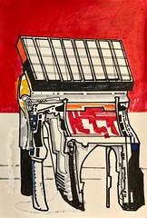 Jim Harris: Field Prototype. (Jim Harris: Artist.) Tags: art arte dessin zeichnung red rot drawing