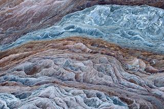 Colourful rock formations, Oldervik