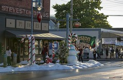 Snow On Moncton (Clayton Perry Photoworks) Tags: vancouver bc canada richmond summer filming movie tv television hopeatchristmas hallmark explorebc explorecanada christmas snow props decorations monctonstreet