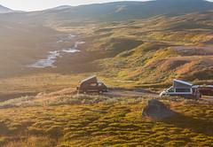 IMG_4939-1 (Andre56154) Tags: schweden sweden sverige landschaft landscape himmel sky fjäll gras sonne sun sonnenuntergang sunset vw volkswagen t3 t6 california camping fluss river