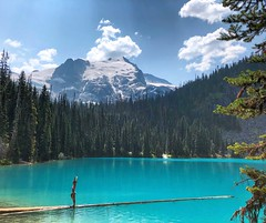 Balance (Pennan_Brae) Tags: glacier hike britishcolumbia beautiful turquoise lake lakes hiking nature