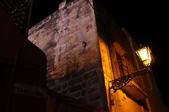 Notturno italiano (riccardolongo1) Tags: night lamp country village italy italie italia europe atmosphere summer mother dark light salento canon old building wall natural holidays