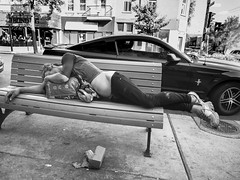Sliding (MomoFotografi) Tags: wasted hobo clochard drunk sleeping beggar